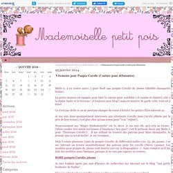 Vêtements pour Poupée Corolle (Couture pour débutantes) - Le blog de Mademoiselle Petit Pois