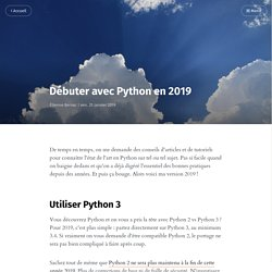 Débuter avec Python en 2019
