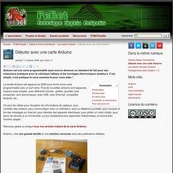 [PoBot] Débuter avec une carte Arduino