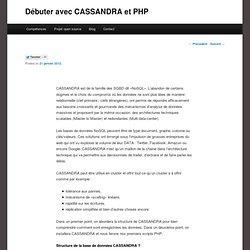 Débuter avec CASSANDRA et PHP