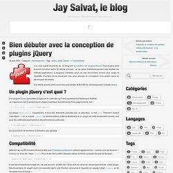 Bien débuter avec la conception de plugins jQuery | Jay Salvat, le Blog