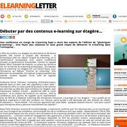 Débuter par des contenus e-learning sur étagère