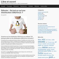 Qu'est-ce qu'une distribution GNU/linux ?