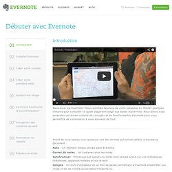 Instructions d'utilisation d'Evernote
