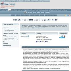 Débuter en J2ME avec le profil MIDP