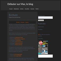 Débuter sur Mac : les logiciels d'écriture Scrivener et Ulysses
