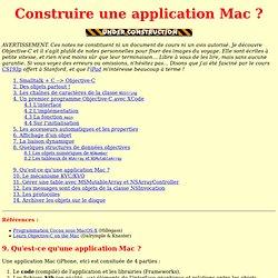 Débuter en Objective-C sur Mac