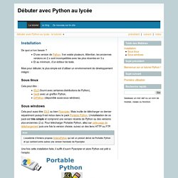 Débuter avec Python au lycée