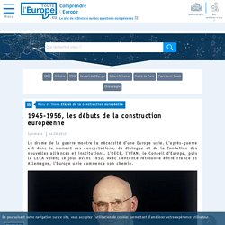 1945-1956, les débuts de la construction européenne - Etapes de la construction européenne-Toute l'Europe