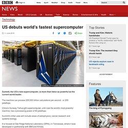 US debuts world's fastest supercomputer