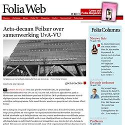 Acta-decaan Feilzer over samenwerking UvA-VU