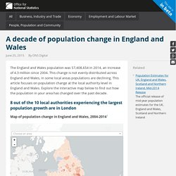A decade of population change in England and Wales