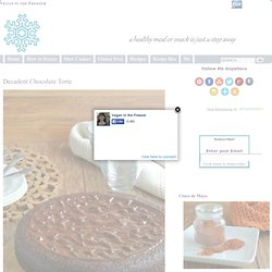 Decadent Chocolate Torte Recipe - Vegan in the Freezer