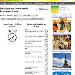 Décalage horaire entre le France et Russie