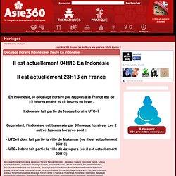 ★ Décalage Horaire Indonésie - Heures, fuseaux horaires et décalage horaire des pays asiatiques ★ Asie360