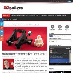 Les jeux décalés et imprimés en 3D de l'artiste Zheng3
