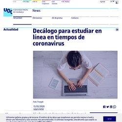 Decálogo para estudiar en línea en tiempos de coronavirus