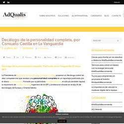 Decálogo de la personalidad completa, por Consuelo Castilla (LVG)