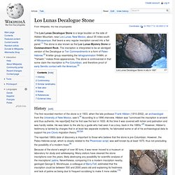Los Lunas Decalogue Stone