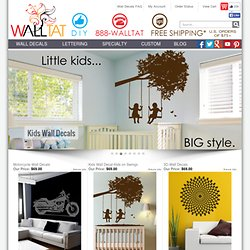 Wall Decals, Kids Wall Decals and Wall Tattoos by WALLTAT