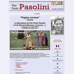 Le Decameron de P.P. Pasolini (par Angela Molteni) Traduction de Justine Lalot