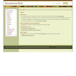 Decameron Web