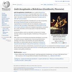 Judit decapitando a Holofernes (Gentileschi, Florencia)