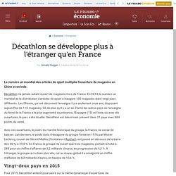 Décathlon se développe plus à l'étranger qu'en France