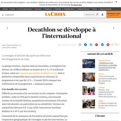 Decathlon se développe à l'international