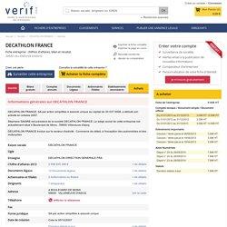 Fiche entreprise DECATHLON FRANCE - 500569405 - Retrouvez la fiche de l'entreprise DECATHLON FRANCE