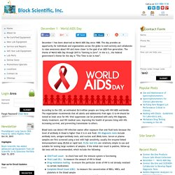 December 1 - World AIDS Day