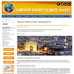 Plans for COP21 in Paris - December 2015