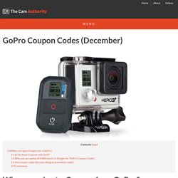 December 2014 GoPro Coupon Codes
