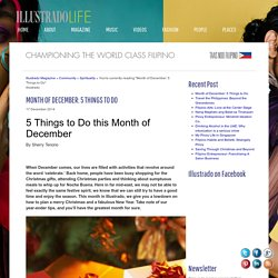 Month of December: 5 Things to Do - Illustrado Magazine