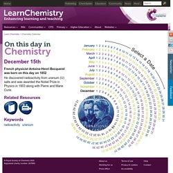 December 15 - On This Day in Chemistry