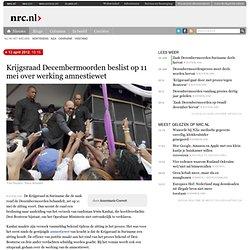Krijgsraad Decembermoorden beslist op 11 mei over werking amnestiewet