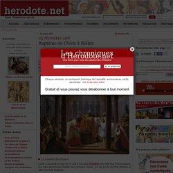 25 décembre 498 - Baptême de Clovis à Reims - Herodote.net