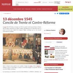 13 décembre 1545 - Concile de Trente et Contre-Réforme - Herodote.net