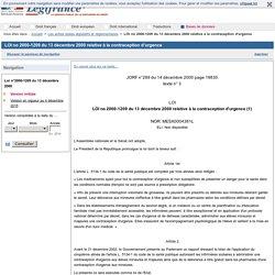 LOI no 2000-1209 du 13 décembre 2000 relative à la contraception d'urgence