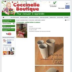 10 décembre : petites boîtes à cadeaux - Jeux éducatifs Coccinelle