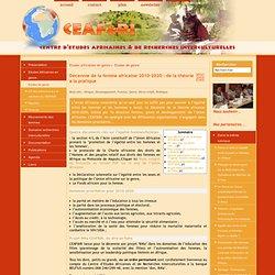 Décennie de la femme africaine 2010-2020 : de la théorie à la pratique - [Ceafri]