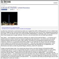La décennie du 11-Septembre - La fin de l'insouciance