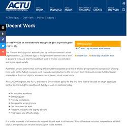 Decent Work Australia