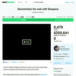 Decentralize the web with Diaspora