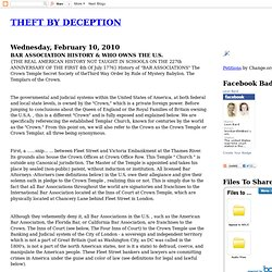 THEFT BY DECEPTION: BAR ASSOCIATION HISTORY & WHO OWNS THE U.S.