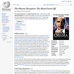 The Obama Deception: The Mask Comes Off