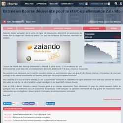 Entrée en Bourse décevante pour la start-up allemande Zalando