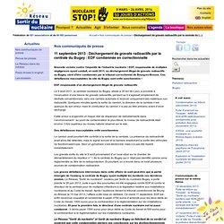 Déchargement de gravats radioactifs par la centrale du Bugey : EDF condamnée en correctionnelle