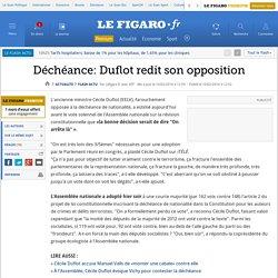 Déchéance: Duflot redit son opposition