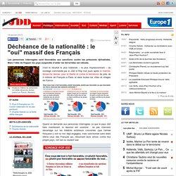 """Déchéance de la nationalité : le """"oui"""" massif des Français"""